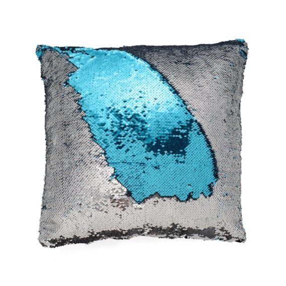 Blue Silver Mermaid Pillow